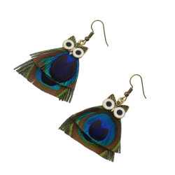Fashion Bohemian Owl Earrings