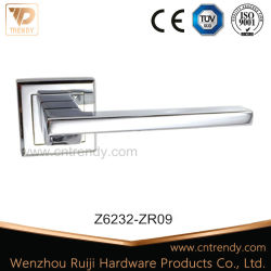 Lever on Rose with Bathroom Lock and Turn and Release (Z6232-ZR09)
