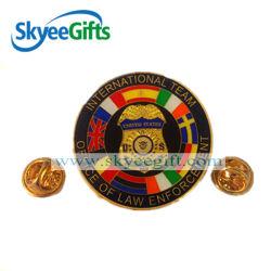Wholesale Cheap Printed Logo Sport Metal Pin