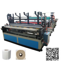 Full Automatic High Speed Toilet Paper Roll Making Machine in China
