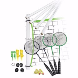 Sports Portable Indoor/Outdoor Net System Badminton Set with Carrying Bag
