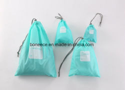 Waterproof Nylon Drawstring Makeup Kit Nylon String Bag
