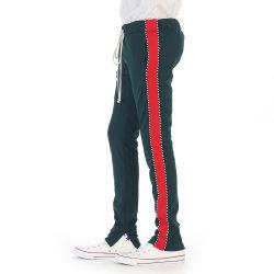 6ccf71bcd Custom Wholesale Jogger Pants Slim Fit Trouser Jogger Sweatpants Zip Track  Pant