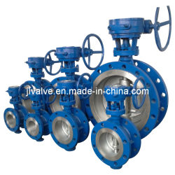 ASTM Wcb Three-Eccentric Flanged Butterfly Valve Gear Operated