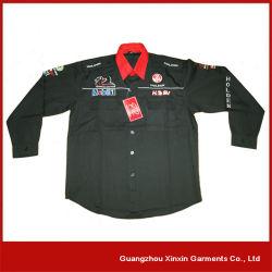 Long Sleeve Racing Pit Crew Team Shirt with Your Logos (S27)