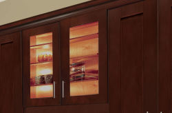 Factory Directly American Style Cherry Shaker Solid Wood Kitchen Cabinets