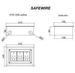 H62 Brass Residential Floor Boxes Screw Lid/Electric Plug Socket