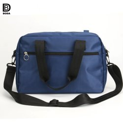 New Blue Nylon Sports Travel Shoulder Bag with Big Capacity