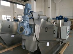 Waste Water Treatment Plant Slurry Dewatering Screw Press Machine