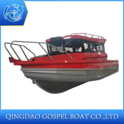 7.5m Hot Selling Aluminum Fishing Boat Easy Craft