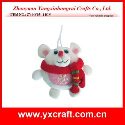 Christmas Decoration (ZY14Y07 14CM) Christmas Polar Bear Toy Christmas Fabric