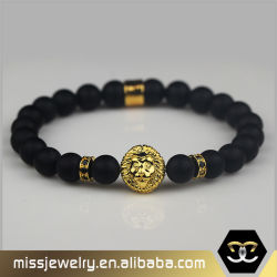 Best Modern Products Lion Head Crown Agate Beads Tiger Eye Stone Bracelet