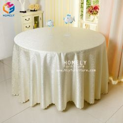 Wholesale Luxury Wedding Decoration Round Tablecloth Polyester Damask Table Cloth