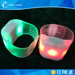 Popular Light up LED Wristbands with Logo Printing
