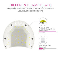 Sun2c 48W LED UV Nail Lamp Dryer with 4 Timers