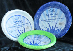 Shape 1 Easylife Various Disposable PS Plastic Round Plate