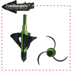 Black Color Broadhead Fixed Blades Archery Arrow for Hunting Game