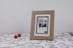 Wooden Grain MDF Picture Frame with Paper Card