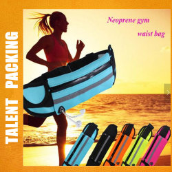 Unisex Sport Waist Bag Neoprene with Earphone Hole