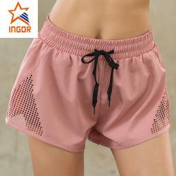 Wholesale High Performance Sportswear Fashing High Waist Short Summer Brlight Color Mini Fitness Gym Shorts Runing Short