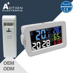 Digital Weather Station Smart Table Clock with Indoor Outdoor Temperature