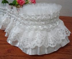 High Quality Elastic Ruffle Lace for Decorations