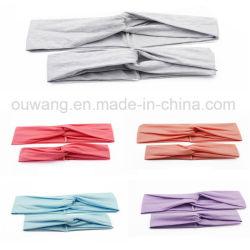 Promotional Item Fashion High Quality Custom Printed Stretch Sport Solid Cotton Headband