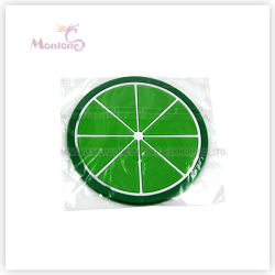 17.5*17*0.7cm Apple-Shaped Cup Mat Pad Silicone Coaster