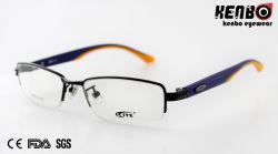 High Quality Metal Half Frame Optical Glasses CE FDA Kf5030