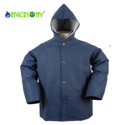 PVC/PU/Tc Fishing Rain Jacket for Men