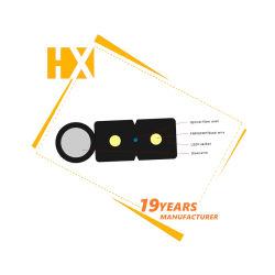 Epon Gepon Gpon ONU CATV WiFi Fiber Optic Equipment Factory Hanxin 19 Years Wholesale 4 Core LSZH Sheath FTTH Drop Cable