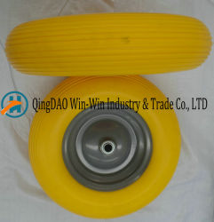 Colorful PU Foam Wheels with Painted Metal Rim (4.00-8/400-8)