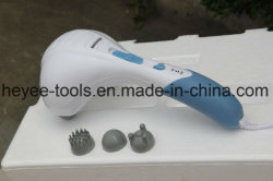 Double Head Handheld Electric Massager Percussion Action for Deep Kneading