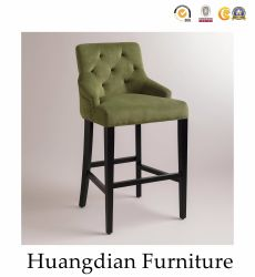 China Factoru Price Fabric Tufted Bar Stool Chiars (HD183)