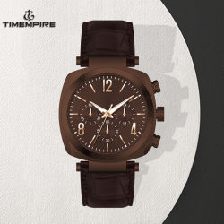 Wrist Watch with Leather Belt Fashion Sports Young Man Watches (72110)