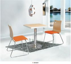Sh005 Restaurant Furniture with Cast Iron Base Metal Dining Chair
