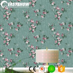 Modern PVC Vinyl Wholesale Cheap Home Wallpaper With Floral Pattern
