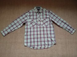 Men's 100%Cotton Yarn Dyed Plaid Long Sleeve Stand Collar Woven Shirts