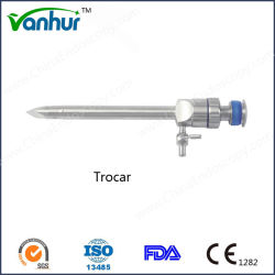 Laparoscopic Instrument Reusable Magnetic Flap Valve Trocar