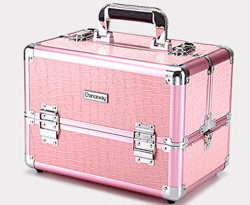 Aluminum Alloy Cosmetics Beauty Manicure Portable Multilayer Professional Makeup Case