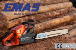 Hot Sale Emas Chain Saw with Original Walbro or Tillotson Carburetor Motosierra with Ce 61.5cc H61