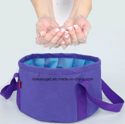 Foldable Bucket Collapsible Water Carrier Container Bag for Camping, Hiking, Travel Foldable Outdoor Water Bag-Wash Basin -Portable Footbath Basin -Lightweight