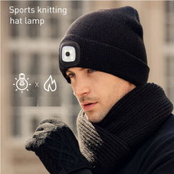 Sports Knitting Acrylic Hat with LED Light