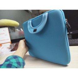 Blue Neoprene Computer Laptop Bag with Silk Printing