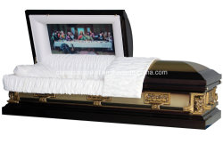 18 Ga Steel Pieta Metal USA Casket