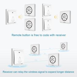 Weatherproof Portable Waterproof Wireless Restaurant Kids Bedroom Large Timbre Doorbell Button Switch Indoor