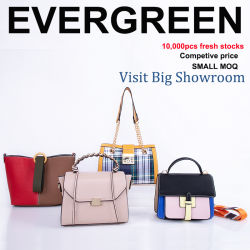 New Design Handbag Elegant Lady Hand Bag Contrast Color Leather Tote Shoulder For Women