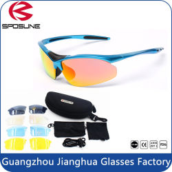 2016 Hot Sale Dropshipping Double Lens Blue Frame Polarized Sport Sunglasses Lens Set for Promo