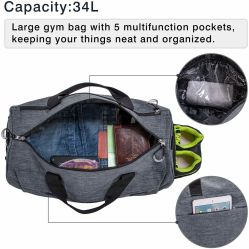 Sports Handbags Gym Bag with Shoes Compartment Travel Duffel Bag Shoulder Bag for Men and Women