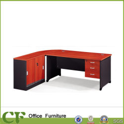 Economical Wholesale Manager Office Table with Side Cabinet